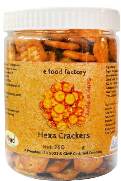 E Food Factory Hexa Salty In Spicy Crackers Salted Biscuit