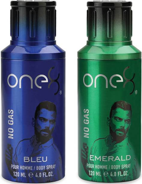 one8 by Virat Kohli No Gas Set Of 2 Deos( Emerald+ Bleu) Perfume Body Spray  -  For Men