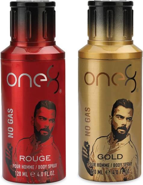 one8 by Virat Kohli No Gas Set of 2 Deos( Rouge + Gold) Perfume Body Spray  -  For Men