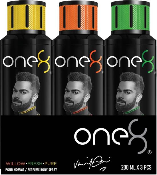 one8 by Virat Kohli Deos( Willow + Fresh + Pure) Perfume Body Spray  -  For Men