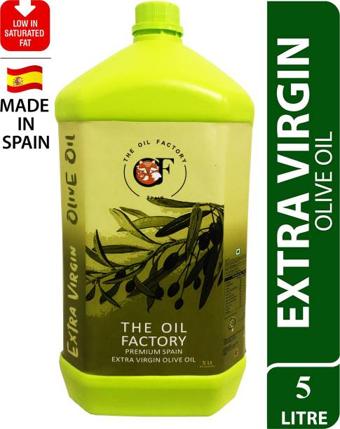 The Oil Factory Extra Virgin Olive Oil, First Cold Pressed,(Imported from Spain) Olive Oil Plastic Bottle