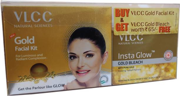 VLCC Gold facial kit 60g & Gold bleach 30g