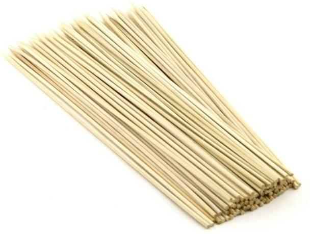Artfinesse Bamboo Skewers Round 8 Inch For Cooking Seekh Kabbs,Barbecue,Grilling,Roasting ,Etc (Set of 45) Disposable Bamboo Roast Fork, Salad Fork, Fruit Fork, Fisk Fork Set