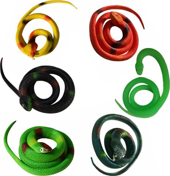 VK MART multi fake Prank snake combo (pack of 6) Snake Gag Toy