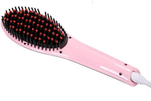 Buyerzone Fast Hair Straightener Brush Premium Professional Automatic Electric Fast Hair Straightener Comb Irons Brush With LCD Digital Display Hair Massager 309 Hair Straightener (Pink) Hair Straightener