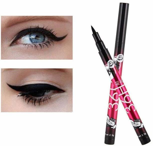 Love Nature 36 Hours Long lasting Black Waterproof Liquid Eyeliner Pack of 2 6 g