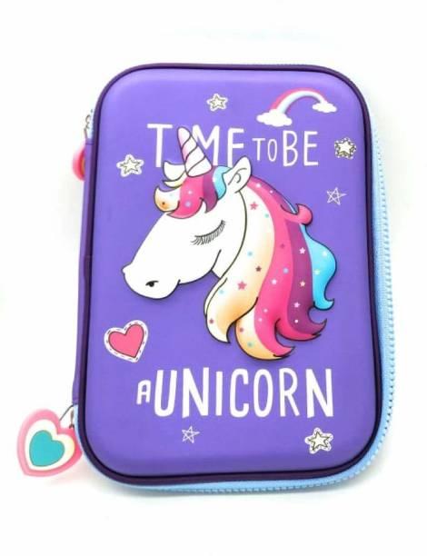 Toxen H156 Unicorn Art Canvas Pencil Box