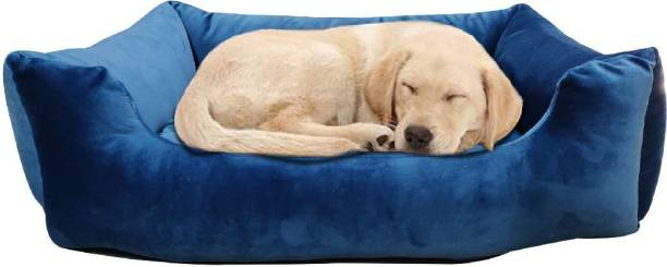 Dogerman Premium Reversible Washable Velvet/Holland Dog Cat Bed with removable cover & insiders (For Small Dogs) M Pet Bed