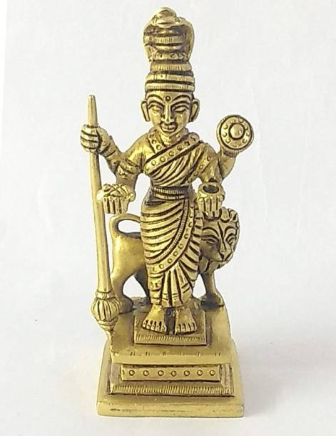 AMKL Brass Ambabai aka Mahalaxmi Murti Decorative Showpiece  -  13 cm