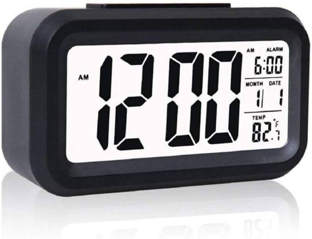 Case Plus Digital Black Clock