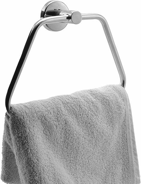 COSSIMO CTS-03 High Grade Stainless Steel Towel Ring for Bathroom/Wash Basin/Napkin-Towel Hanger/Bathroom Accessories (Chrome-Triangle) - Pack of 1 Pcs SILVER Towel Holder