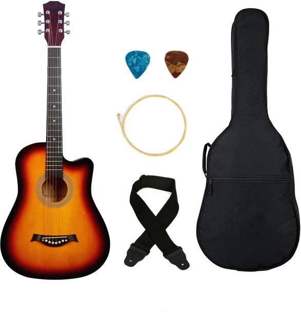 Flipkart SmartBuy 38C Red Sunburst , 38 Linden Wood Acoustic Guitar