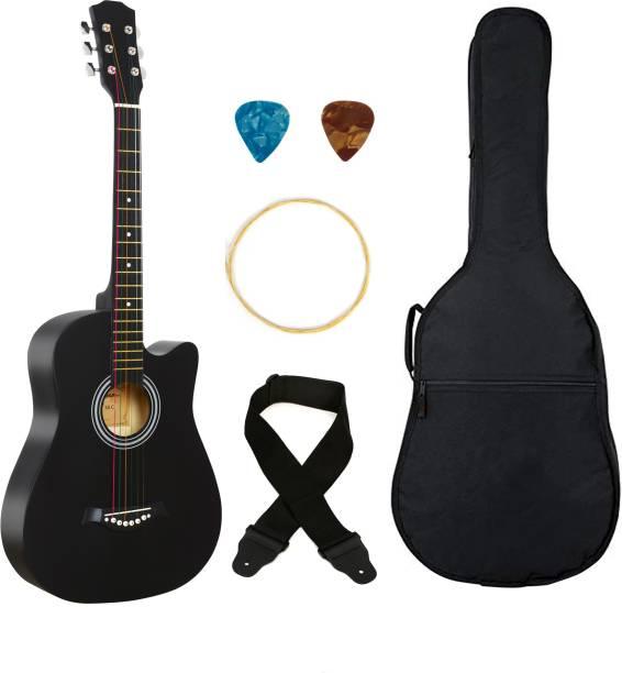 Flipkart SmartBuy 38C Classic black, 38 Acoustic Guitar Linden Wood Plastic Right Hand Orientation
