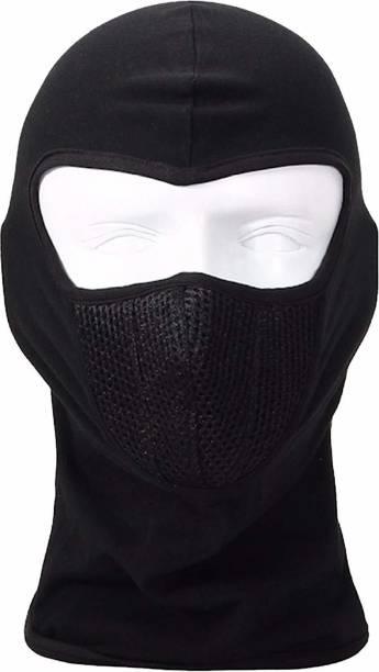 Uncle Paddy Black Bike Face Mask for Men