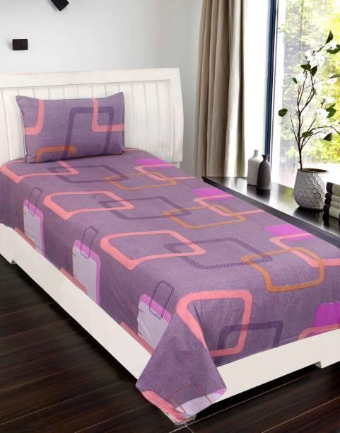 FRC Decor 144 TC Cotton Single Geometric Bedsheet