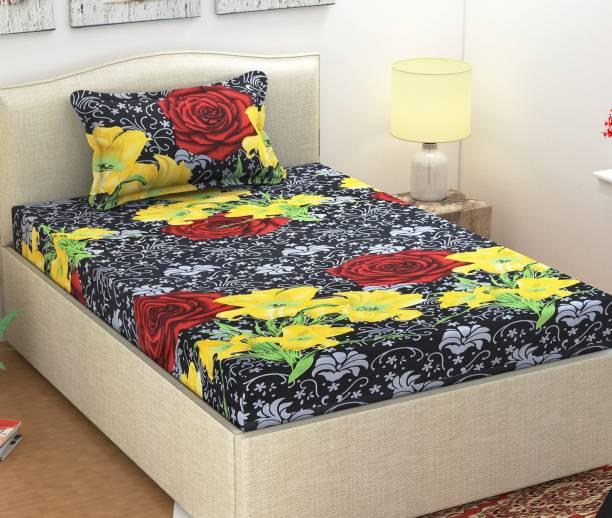 Monika 104 TC Cotton Single Floral Bedsheet