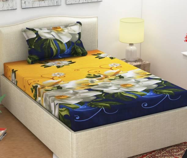 Monika 154 TC Cotton Single, Double Floral Bedsheet