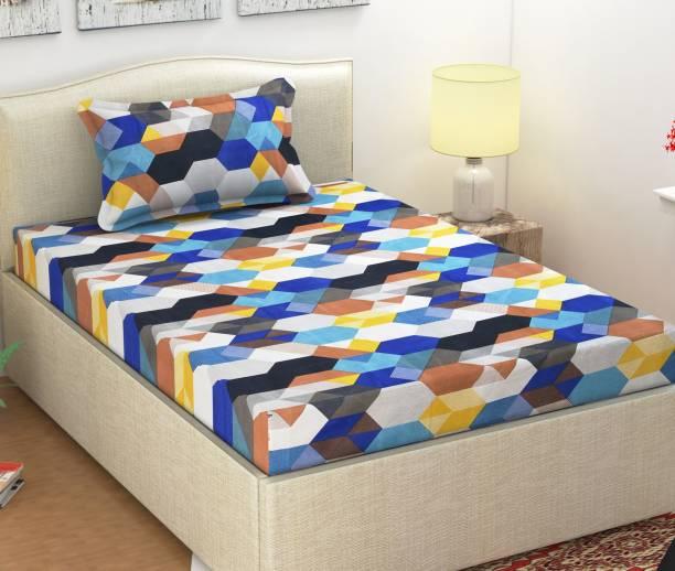 Monika 154 TC Cotton Single Printed Bedsheet