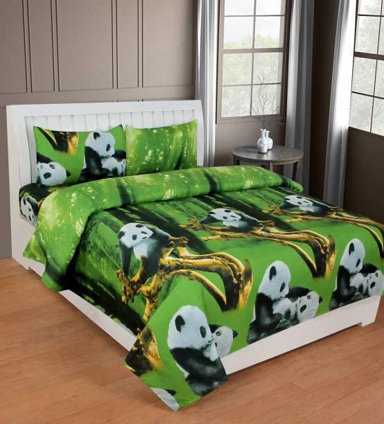 Fashion Town 180 TC Microfiber Double Animal Bedsheet