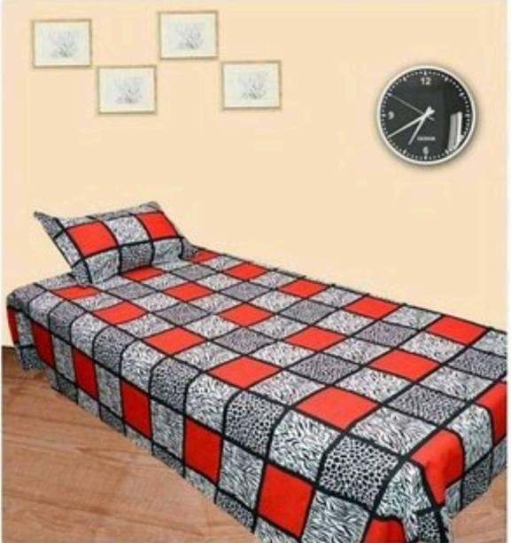 ivaza 180 TC Microfiber Double Solid Bedsheet