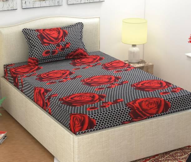 Monika 104 TC Cotton Single 3D Printed Bedsheet