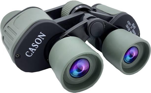 CASON Professional 8 X 40 HD Binoculars 10X Zoom Folding Powerful Lens Portable Binocular Telescope With Bag Outdoor Binoculars For Long Distance , bird watching,wildlife For Adults Binoculars
