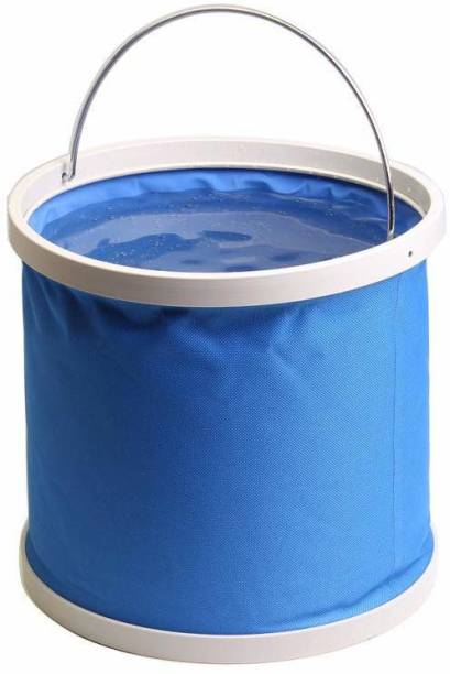 SOCHEP Camping Fishing Bucket, Emergency Compact Portable Folding Water Container, Great for Hiking, Travel 9 L Polyester Bucket