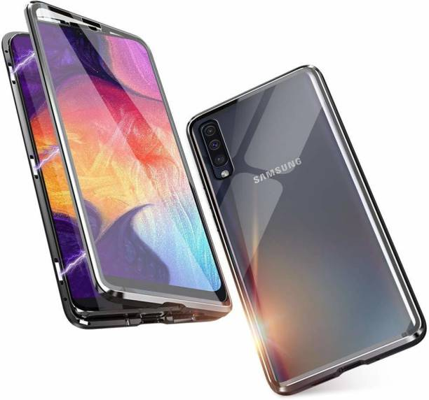 UNQMobi Back Cover for Samsung Galaxy A50 Only Back Mirror Glass Magnetic Case Cover
