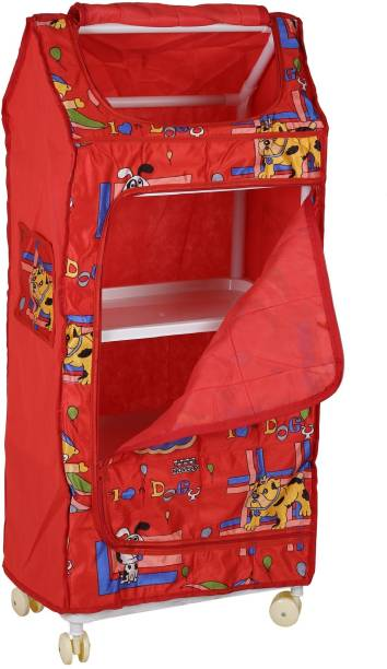 Archana Novelty Angel Almirah- Red 4S PVC Collapsible Wardrobe