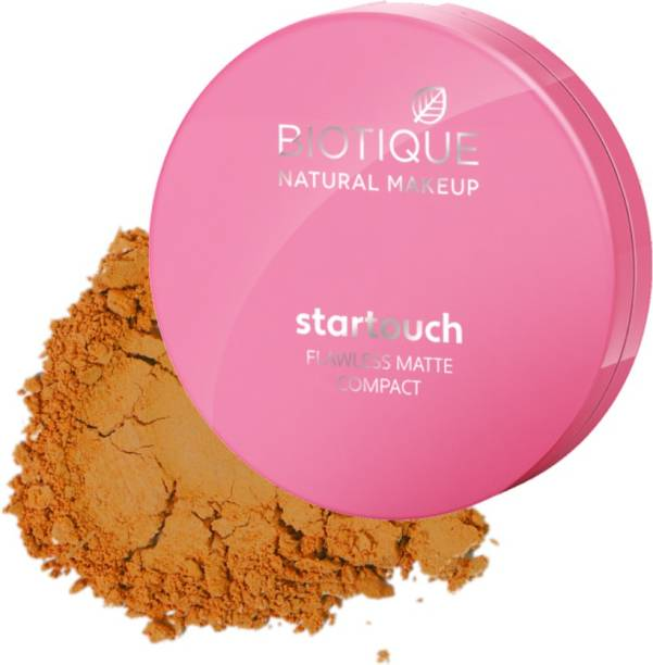 BIOTIQUE Startouch Falwless Matte Compact, Almond Biscotti Compact