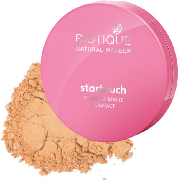 BIOTIQUE Startouch Falwless Matte Compact, Honey Glow Compact
