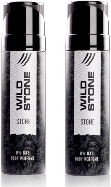 Wild Stone Stone (120 ml each) Perfume Body Spray  -  For Men