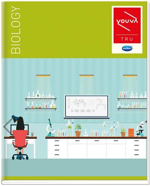 NAVNEET Youva Hard Bound Biology Practical Book 21.5x26.5 cm Regular Notebook 1 Side Ruled & 1 Side Plain 176 Pages