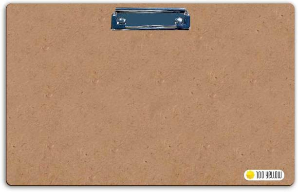 100yellow Large Wooden Clip Board (12.5 x 19.5)