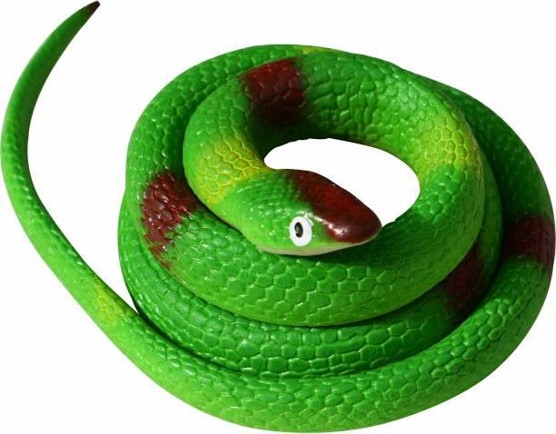 VK MART Colorful Green Rubber Snake Toy for Kids (pack of 1) Snake Gag Toy
