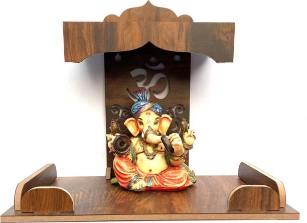 7CR New Holi Temple (WB) Wooden Wall Shelf