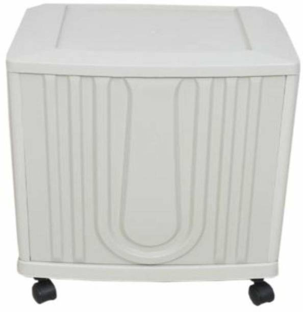 Gopika MOD_AS_SIMPLE_SINGLE_WHITE Trolley for Inverter and Battery