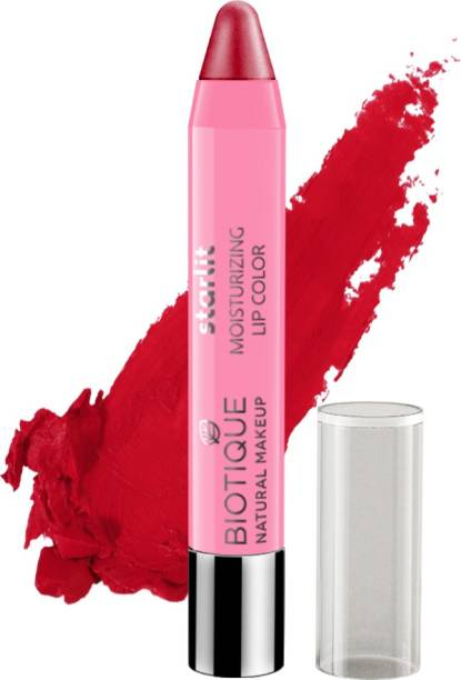BIOTIQUE Starlit Moisturising Lipstick, Crimson Pop