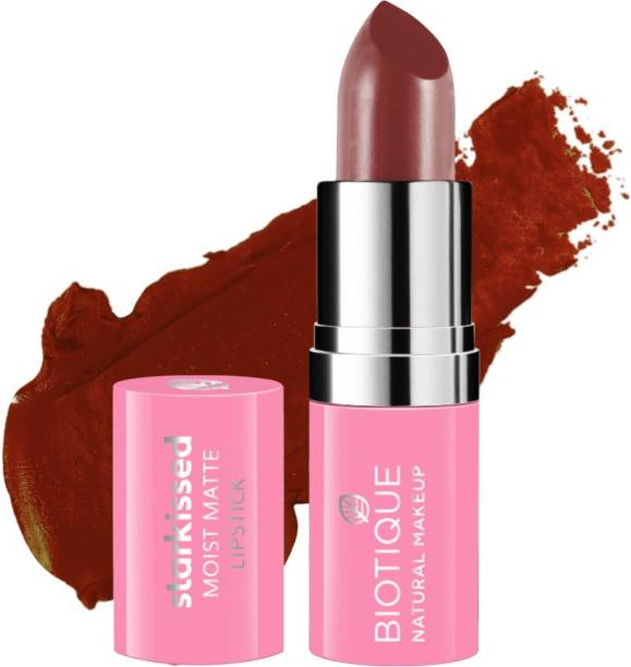 BIOTIQUE Starkissed Moist Matte Lipstick, Born Wild