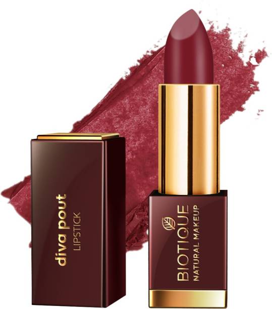 BIOTIQUE Diva Pout Lipstick, Dark Romance
