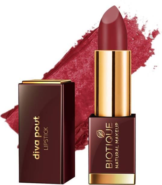 BIOTIQUE Diva Pout Lipstick, Flaming Desire