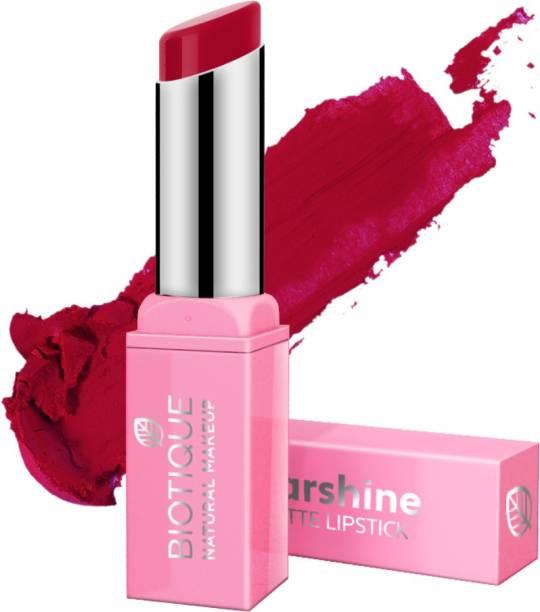 BIOTIQUE Starshine Matte Lipstick, Passionate Pink