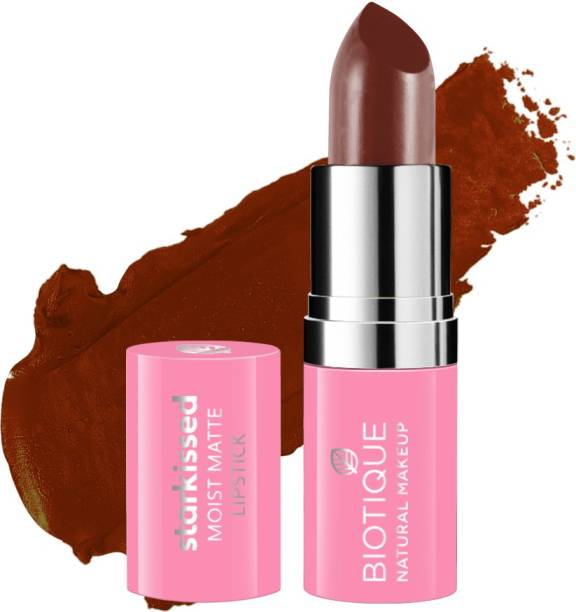 BIOTIQUE Starkissed Moist Matte Lipstick, Down To Earth