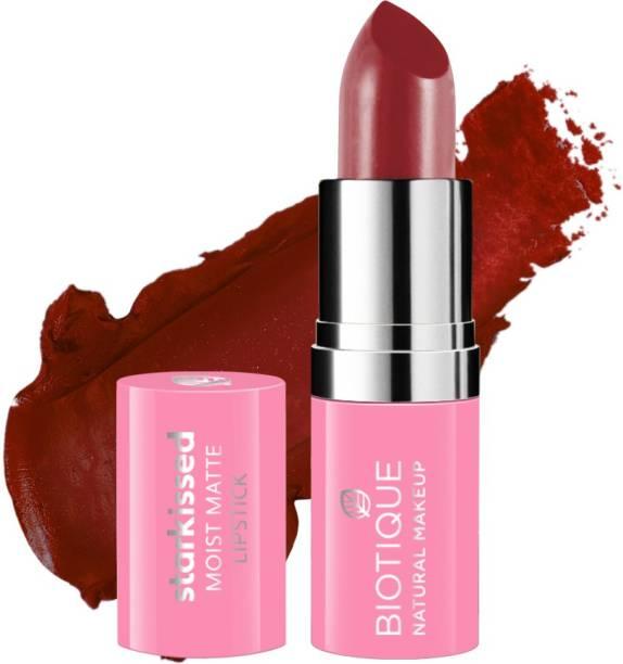 BIOTIQUE Starkissed Moist Matte Lipstick, Blood Moon
