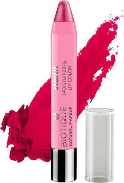 BIOTIQUE Starlit Moisturising Lipstick, Rich Raspberry