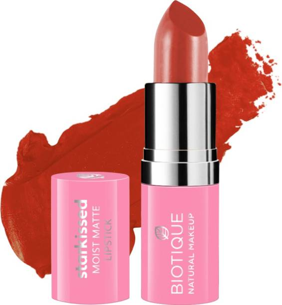 BIOTIQUE Starkissed Moist Matte Lipstick, Material Girl
