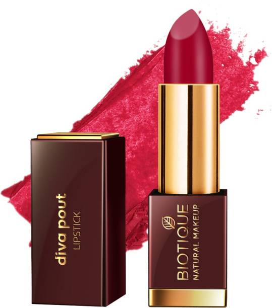 BIOTIQUE Diva Pout Lipstick, Color Me Pink
