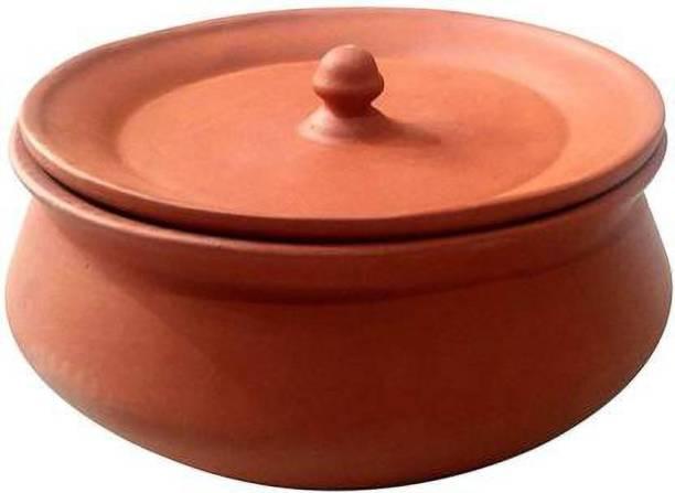 shriyam craft The Himalaya Craft Mitti Cool Terracotta Clay Curd Pots, 500 ml, Brown Handi 0.6 L with Lid