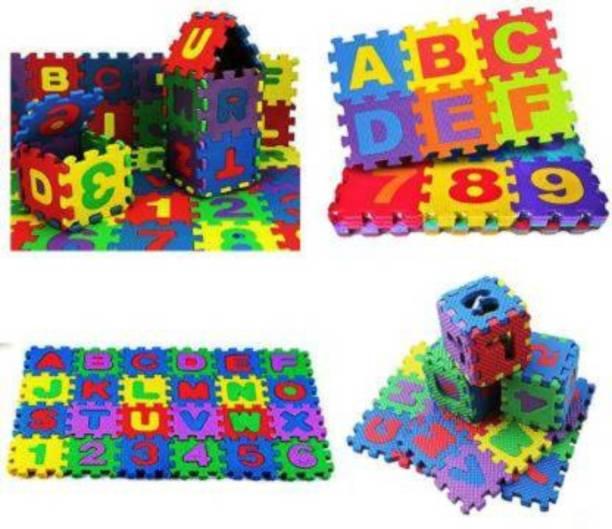 saburi Non Toxic Alphabet Puzzle Mat | THICKEST ABC + Numbers 0 to 9 Flooring Mat | Eva Foam | Kids Learn & Play with Interlocking Puzzle Pieces | Bonus Fun Learning