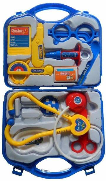 Kidz N Toys Doctor Kit Toys for Kids, Doctor Kit Pretend Play Doctor Play-Set Medical Carry case Nurses Toy Set Fun Toy Gift Early Education for Kids